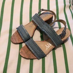 Sam & Libby Light Blue Sandals - 9